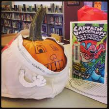 Captain Underpants Painted Pumpkin by Storybook Pumpkin Patch Time Library Learners Home Decorating