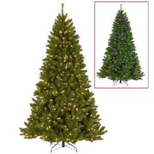 Ft North Valley Spruce Artificial Tree With Dual Color Led Lights Christmas 75 Foot N