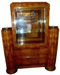 Art Deco Dining Table French Display Cabinet Vitrine