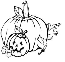 halloween pumpkin clip art black and white