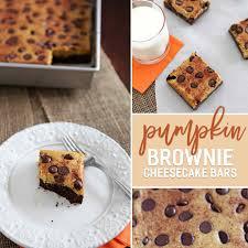 Pumpkin Swirl Cheesecake Bars by Pumpkin Cheesecake Brownie Bars The Speckled Palate
