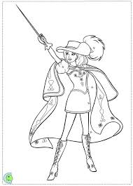 Barbie And Three Musketeers Coloring Pages