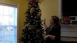 Sams Club Christmas Tree Decorating Tips by Add Deco Mesh To Christmas Tree Part 1 Youtube