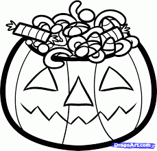 How To Draw Halloween Candy Step By Seasonal Coloring Sheets
