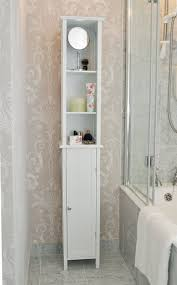 White Bathroom Wall Cabinets With Glass Doors by Bathroom White Bathroom Cabinet 54 White Single Sink Vanity