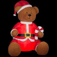 Gemmy Inflatable Halloween Train by Amazon Com Christmas Inflatable 9 Ft Tall Giant Plush Teddy Bear