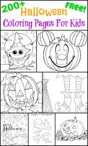Coloring Pages Free For Adults Online Halloween Disney Sheets Printable Kids