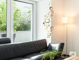 dekodino wandtattoo retro cubes grün braun 40 stück wohnzimmer flur deko