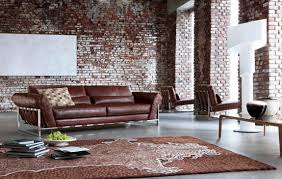 Living Room Warehouse Transformed Into Brown Modern Industrial