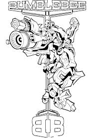 Bumblebee Transformer Coloring Page Bee