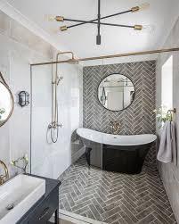 extravagantes hauptbadezimmer komplett mit freistehender