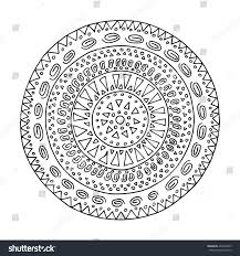 Boho Coloring Book Mexican Zen Tangle Doodle