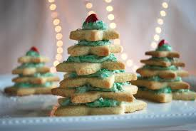 Stacked Star Christmas Tree Sugar Cookies