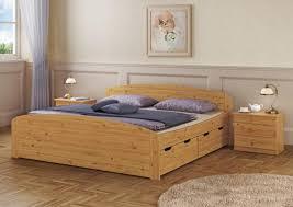 funktionsbett doppelbett bettkasten 200x200 holzbett massivholz kiefer natur 60 50 20 or