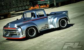 100 Pro Touring Trucks PRO351400 Line 1956 Ford F100 Street Truck Clear Body