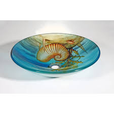 seashell glass bowl vessel bathroom sink free shipping today