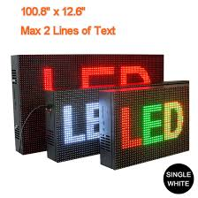 White LED Display Signs