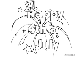 Happy July 4th Coloring