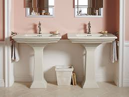 memoirs pedestal sink with stately design and single hole k 2268