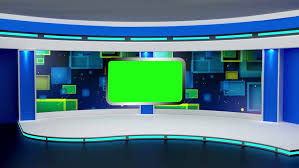 Stock Video Of Education Tv Studio Set