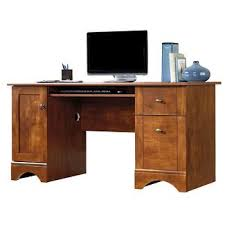 Sauder Harbor View Computer Desk Salt Oak by Sauder Target