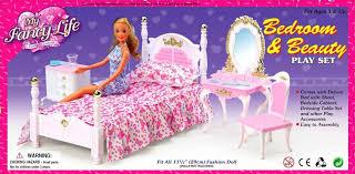 prinzessin fall für puppe mädchen schlafzimmer möbel und zubehör bett zimmer traum schrank spielzeug süße haus