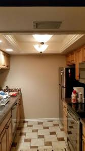 replacing fluorescent lights in the kitchen tray ceilings