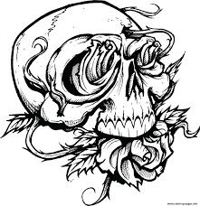 Hearts And Roses Coloring Pages Printable Sheets Free Print Sugar Skull Full Size