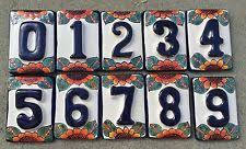 Mexican Tile House Numbers With Frame by Ceramic House Numbers Home U0026 Garden Ebay