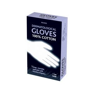 Reliance Dermatological Gloves 100% Cotton 1 Large Pair