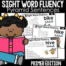 Sight Word Fluency Pyramid Sentences Primer Edition
