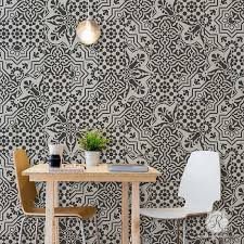 Room Makeover With Painted European Tile Designs For Painting Pattern On Walls And Floors