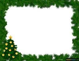 Christmas Tree With Green Border Photo Frame Insert Photos