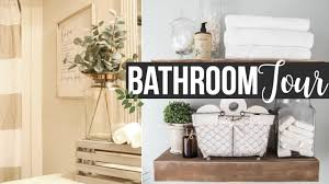 DECORATE WITH ME 2017 | GUEST BATHROOM TOUR & DECORATING IDEAS ... Master Bathroom Decorating Ideas Tour On A Budgethome Awesome Photos Of Small For Style Idea Unique Modern Shower Design Pinterest The 10 Bathrooms With Beadboard Wascoting For Blueandwhite Traditional Home 32 Best And Decorations 2019 25 Tips Bath Crashers Diy Cute Storage Decoration 20 Mashoid Decor Designs 18 Bathroom Wall Decorating Ideas