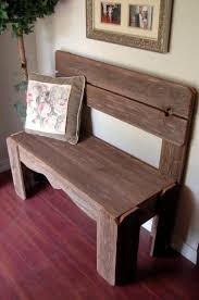 Popular Of Rustic Bench With Back Reclaimed Wood Rustic High Back