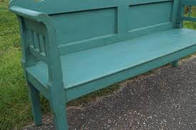 antique painted bench for sale at pamono