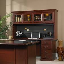 Sauder Beginnings Computer Desk by Sauder Heritage Hill Hutch Classic Cherry Walmart Com