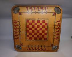 Vintage Carrom Board Distressed Table Top Repurpose Furniture Project Game Toy