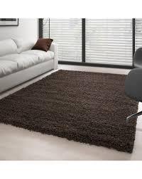 hochflor langflor wohnzimmer shaggy teppich florhöhe 3cm unifarbe braun