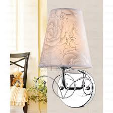innovative grey floral fabric shade wall sconce lighting