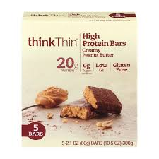 ThinkThin Bar 20 Grams Of Protein Creamy Peanut Butter 21 Oz 5 Ct