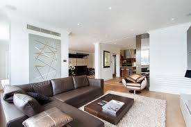 Living Room Decorating Ideas Black Leather Sofa by Sumptuous Brown Leather Sofa Convention Other Metro Contemporary