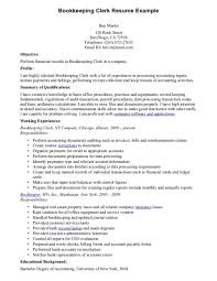 Bookkeeper Resume Templates Examples And Cover Letter Within Bookkeeping Wondrous Sample Monster With Quickbooks Experience Free