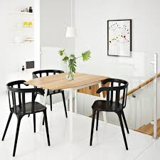 Ikea Dining Room Sets by Diy Ikea Dining Table Wooden Frame Leather Dining Chairs