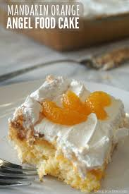 Mandarin orange angel food cake