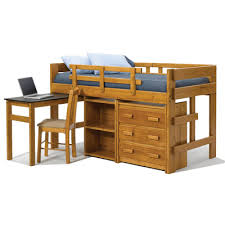 Low Loft Bed With Desk And Storage by Twin Mini Low Loft Bed With Pull Out Desk And Storage Wayfair