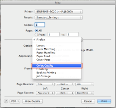 Default Print Settings To Grayscale Mac OS X Mozilla Firefox