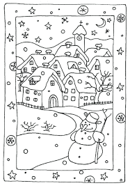 Free Printable Christmas Winter Coloring Sheets Awesome Pages About Remodel Colouring Printables For Kindergarten Full