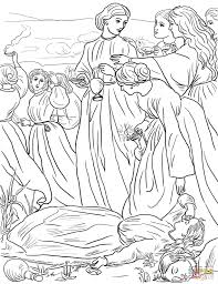 Parable Of The Talents Coloring Page Jesus Parables Pages Free Printable