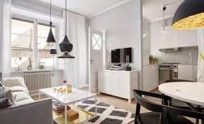 küche esszimmer und wohnzimmer in einem kleinen raum luxus